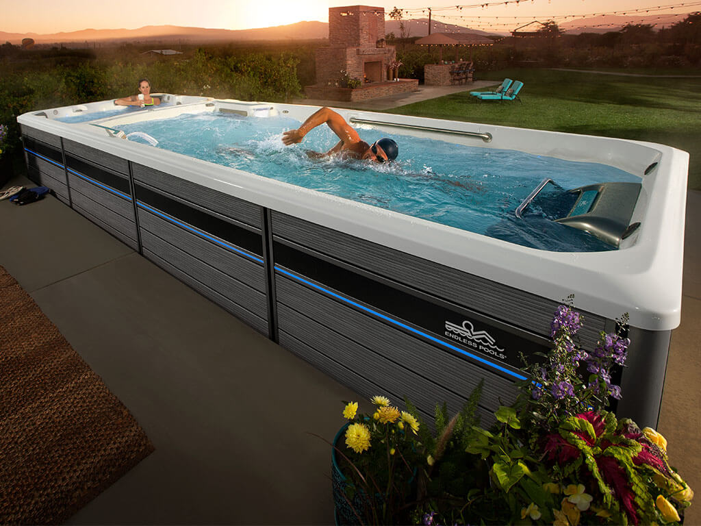 Configure your endless pool for Swim spa in garage