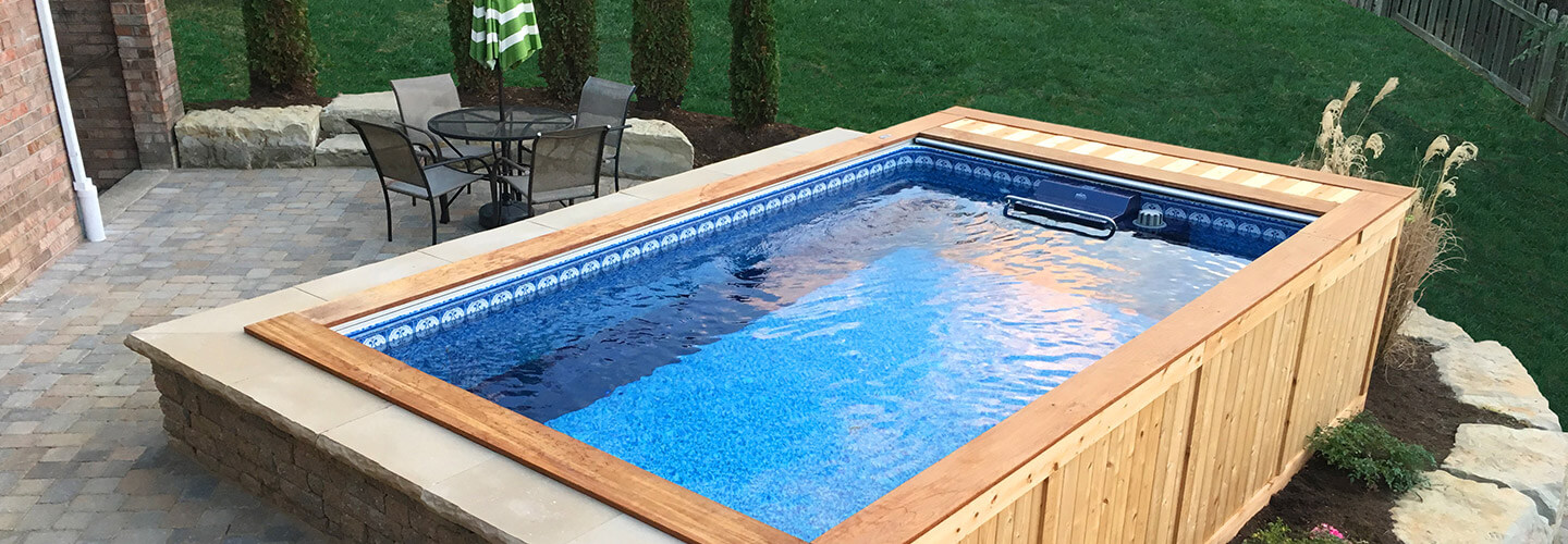 Backyard pools small backyard pool backyard swimming pools for Least expensive inground pool