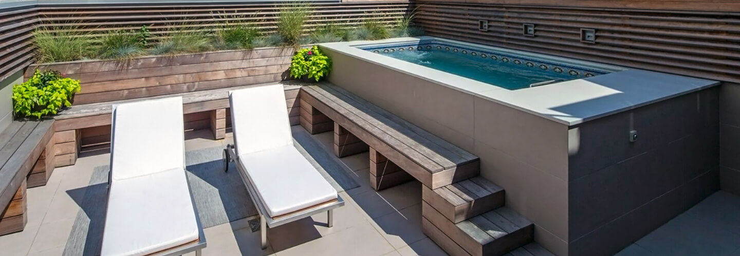Deck swimming pools above or in ground lap pools for How to build a lap pool