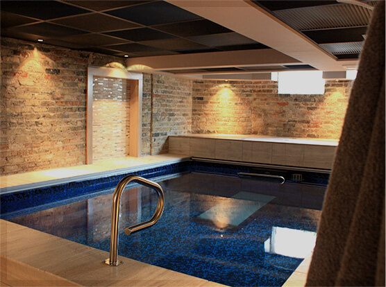 Take an endless pools house tour for Endless pool in basement